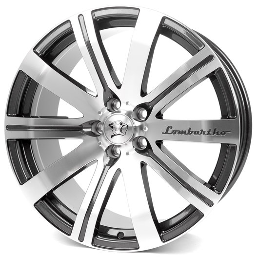 Cheetah Wheels Lombartho grey front polished